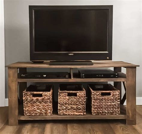 Simple Wooden Tv Stand Plans