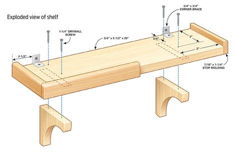 Simple Wooden Wall Shelf Plans