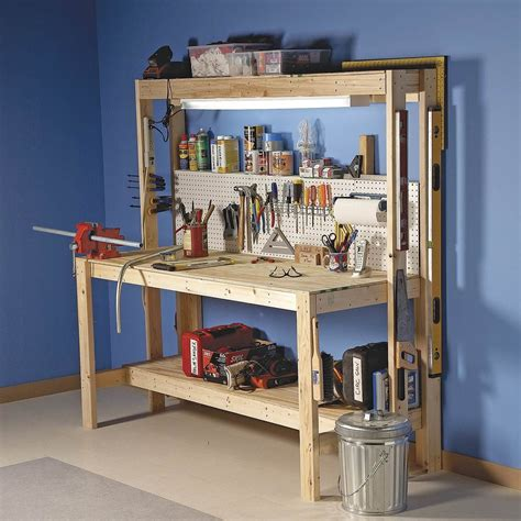Simple Workbench Plans Garage Handyman