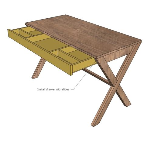 Simple-Desk-With-Drawer-Plans