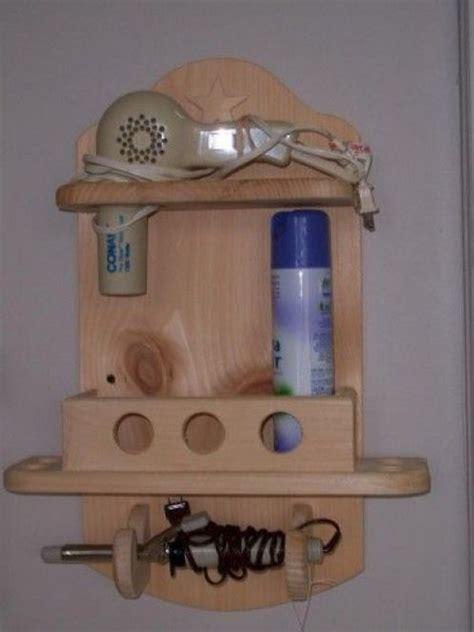 Simple-Diy-Wooden-Hair-Dryer-Holder