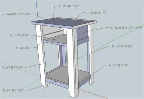 Simple-Nightstand-Woodworking-Plans
