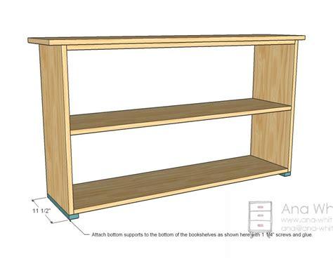 Simple-Two-Shelf-Bookcase-Plans
