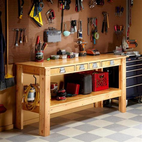 Simple-Workbench-Plans-With-Drawers