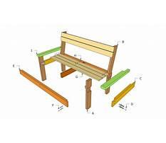 Best Simple park bench plans