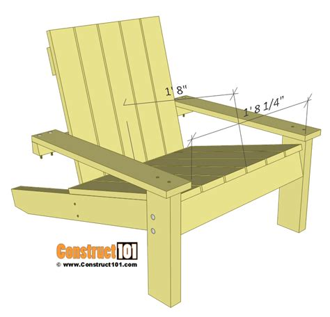 Simpleadirondack Chairs Plans