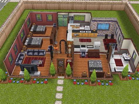 Sims Freeplay One Story House Plans