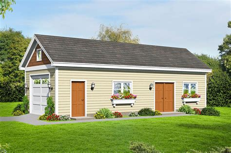 Single Car Garage And Shop Plans