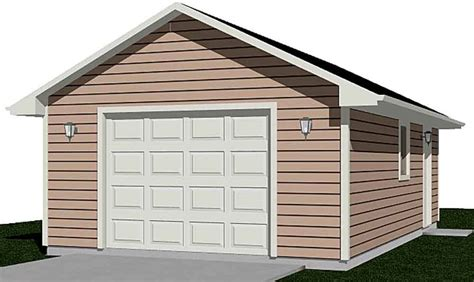 Single Car Garage Plans 16 X 24