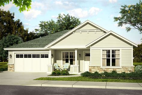 Single Level House Plans With Garage In Front Of House