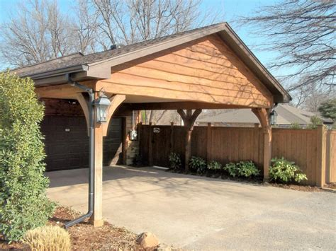 Single Wooden Carport Plans