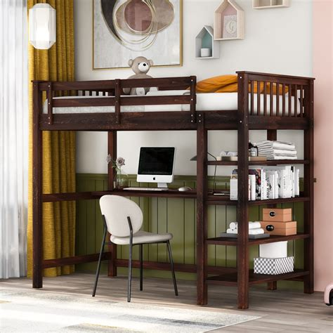 Single-Loft-Bed-With-Desk-Plans