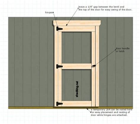 Single-Shed-Door-Plans