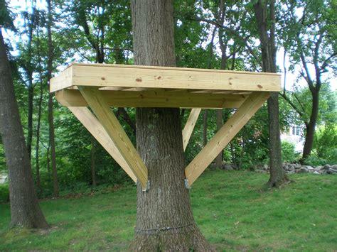 Single-Tree-Treehouse-Platform-Plans