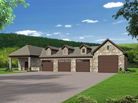 Six Car Garage House Plans