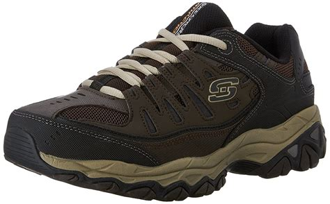 Skechers Afterburn Memory-foam Lace-up Sneaker Brown Taupe