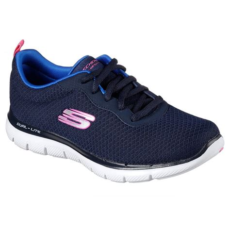 Skechers Flex Appeal 2.0 Newsmaker Training Sneaker Navy Women's