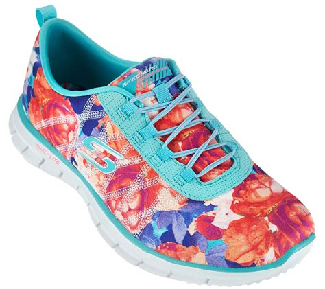 Skechers Floral Stretch-fit Bungee Sneakers Glider Posies At Blair