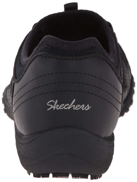 Skechers For Work Women's Bungee Slip Resistant Lace-up Sneaker 76578