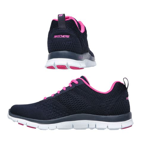 Skechers Sport Flex Appeal Obvious Choice Sneaker Pink Yellow