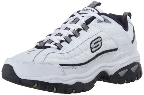 Skechers Sport Men's Energy Afterburn Lace-up Sneaker White Navy