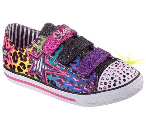 Skechers Twinkle Toes Chit Chat-prolifics Light-up Sneaker Cheetah