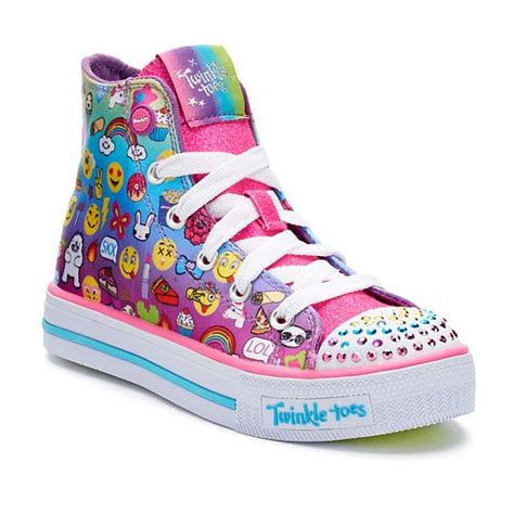 Skechers Twinkle Toes Shuffles Chat Time Girls Light Up Sneakers