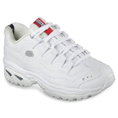 Skechers White Leather Sneakers