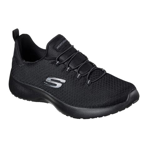 Skechers Womens Black Slip On Sneakers