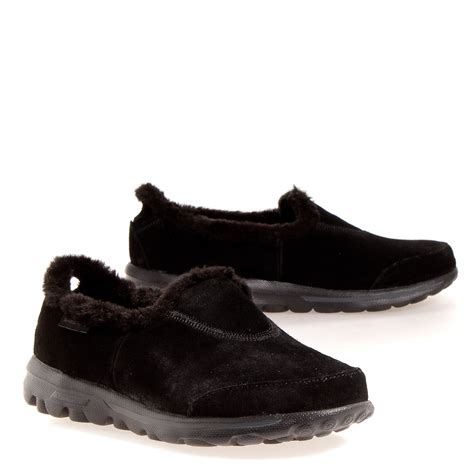 Skechers Womens Shoes Go Walk Toasty Sneakers