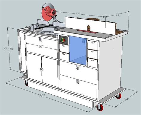 Sketchup Plans Of Miter Saw Table