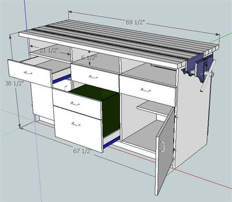 Sketchup-Workbench-Plans