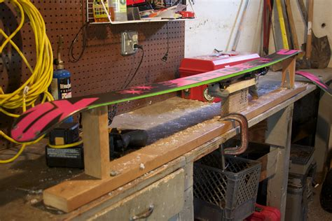 Ski Waxing Table Diy With Shelf