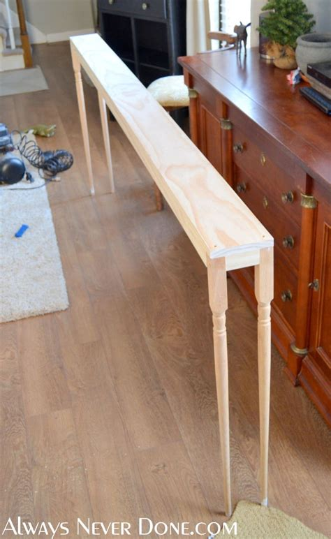 Skinny Sofa Table Diy