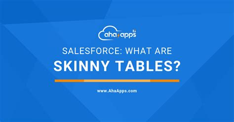 Skinny Table In Salesforce