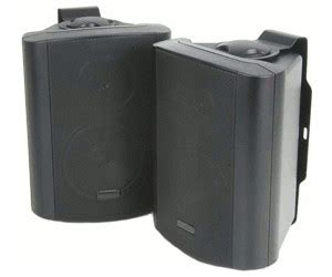 Skytronic Stereo speaker set 2 way 100W Black Pair
