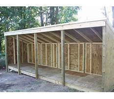 Best Slant roof shed plans
