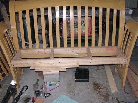 Sleigh Bed Bench Diy Simple