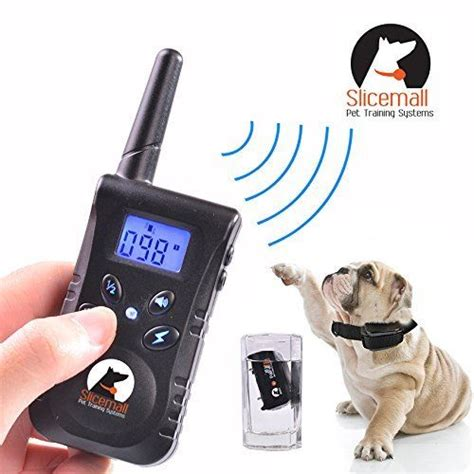 Slicemall waterproof and rechargeable remote electric dog training collar.aspx Image