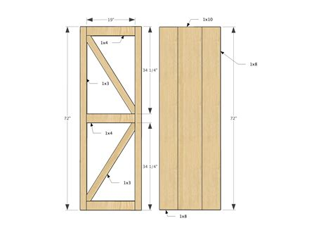 Sliding Barn Door Plans Pdf
