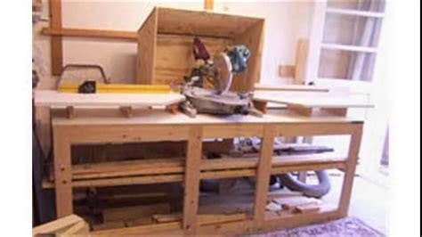 Sliding Compound Miter Saw Stand Plans