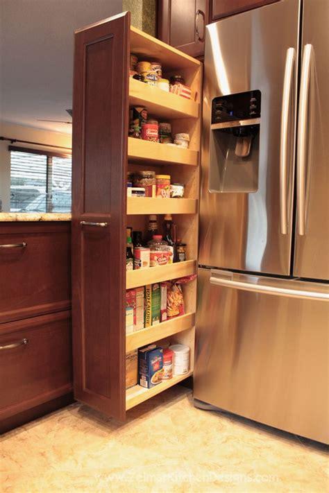 Sliding-Pantry-Next-To-Refrigerator-Plans