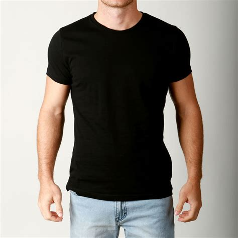 acdcf29be27c Best Price Slim Fit Plain Black T Shirts - Dreamworks