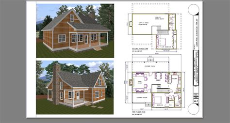 Small 2 Bedroom Cabin With Loft Plans