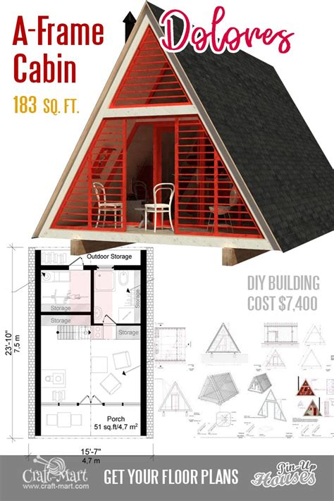 Small A Frame Cabins Floor Plans