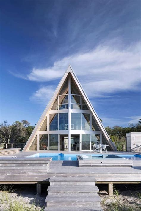 Small A Frame Home Plans With Glass Fronts