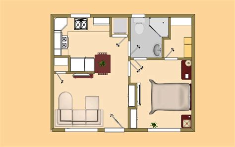 Small Cabin Floor Plans Under 500 Square Feet