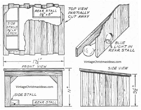 Small Christmas Nativity Stable Plans Free