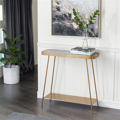 Small Glass Console Table