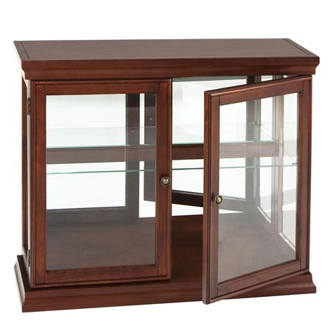 Small Glass Table Top Curio Cabinet